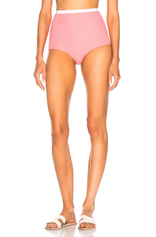 Image 1 of FLAGPOLE Diana Bikini Bottom in Flamingo & Petal
