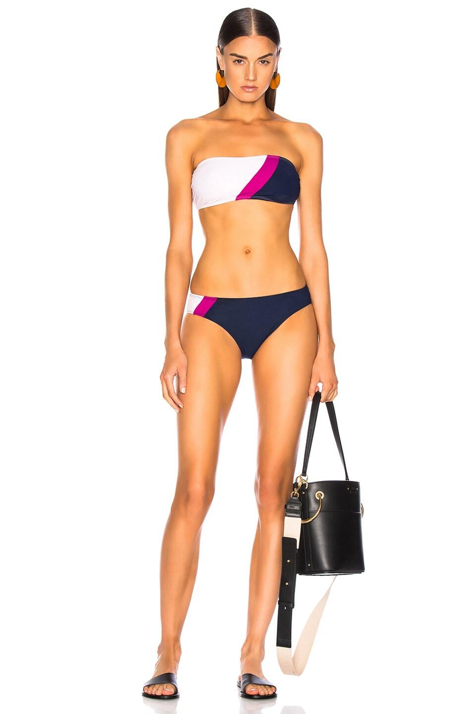 Image 4 of FLAGPOLE Maya Bikini Top in Magenta Multi