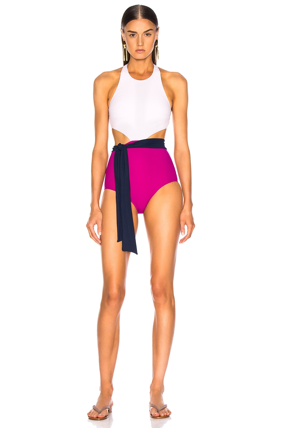 Image 1 of FLAGPOLE Lynn Onepiece With Sash in Petal & Magenta