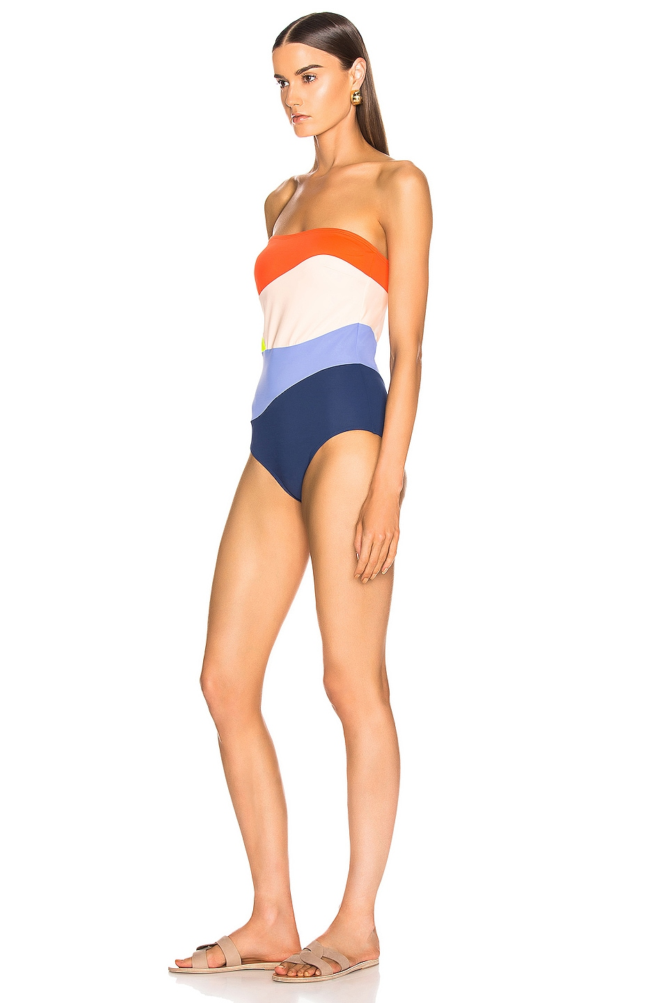 Image 4 of FLAGPOLE Sunset Swimsuit in Aperol Multi
