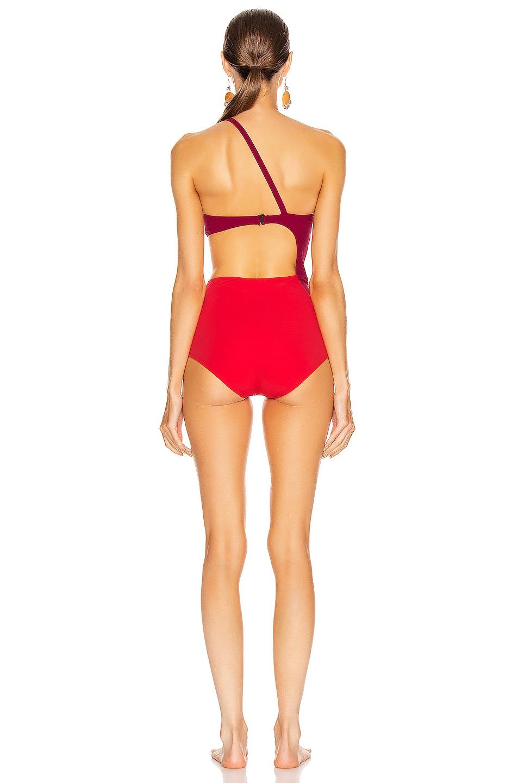 Image 4 of FLAGPOLE Ali Swimsuit in Beet & Cherry