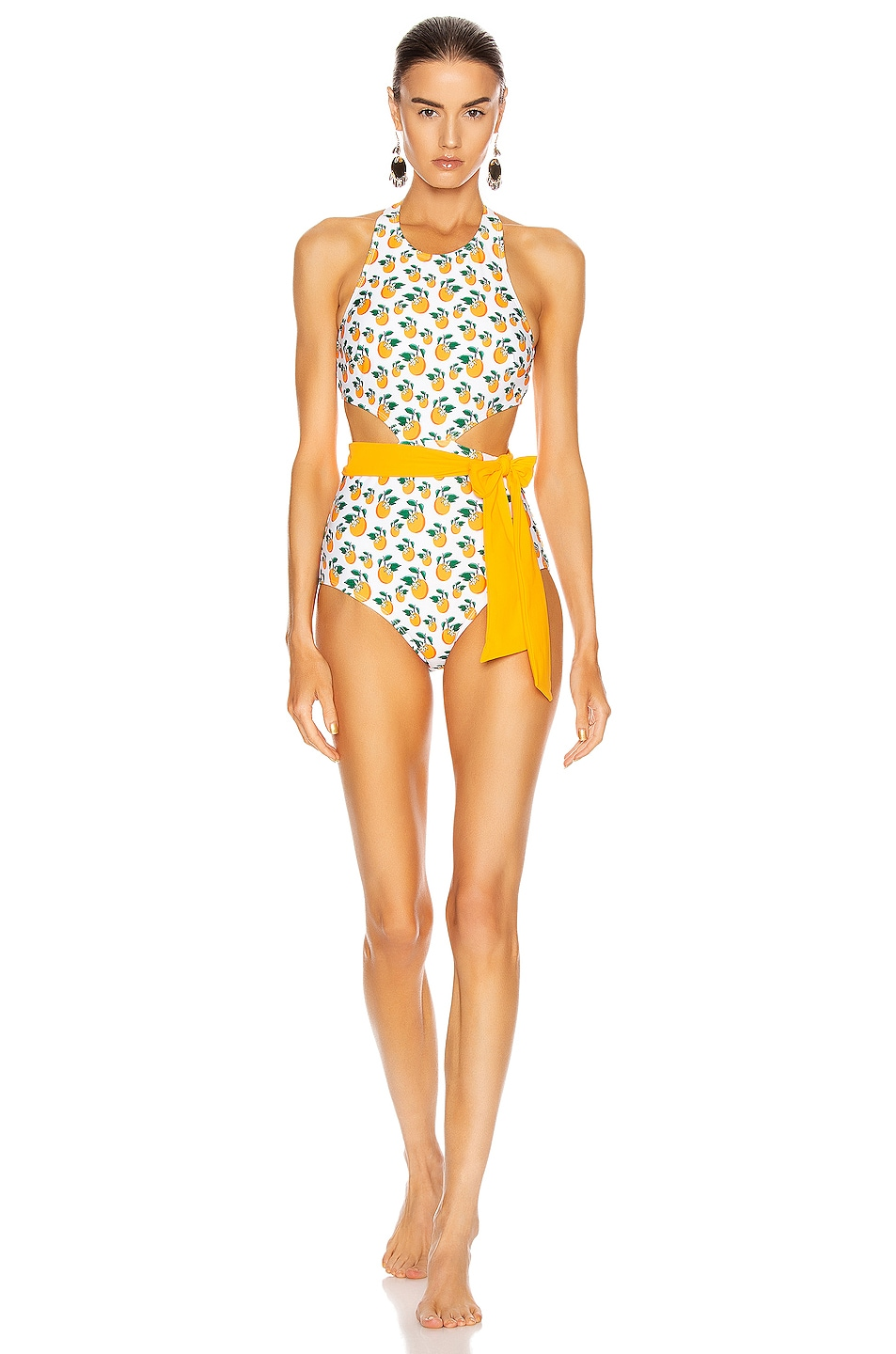 Image 1 of FLAGPOLE Lynn Swimsuit in Orange Blossom