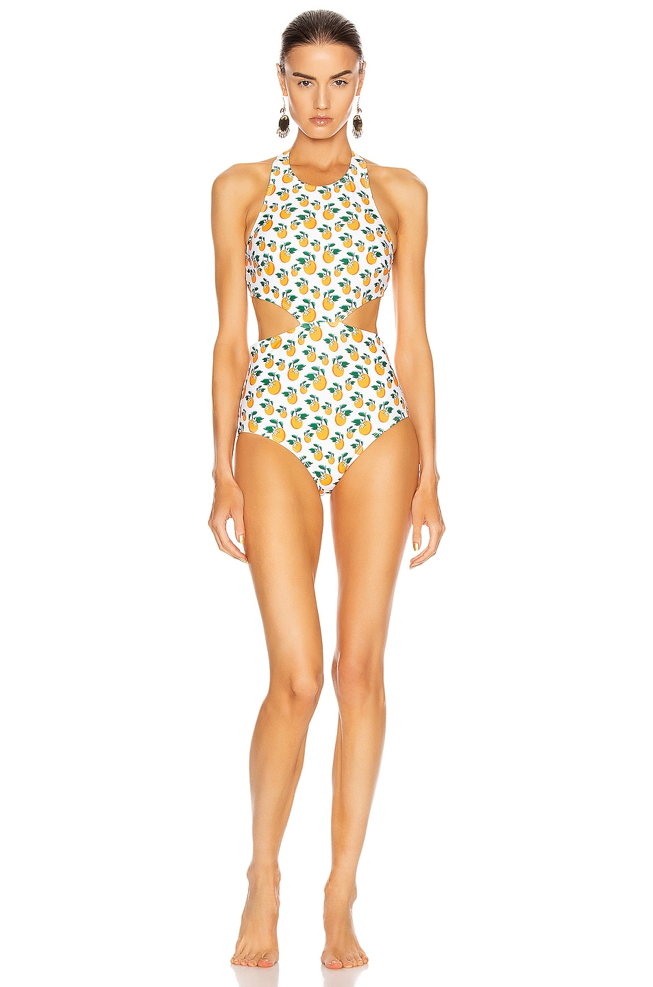 Image 2 of FLAGPOLE Lynn Swimsuit in Orange Blossom