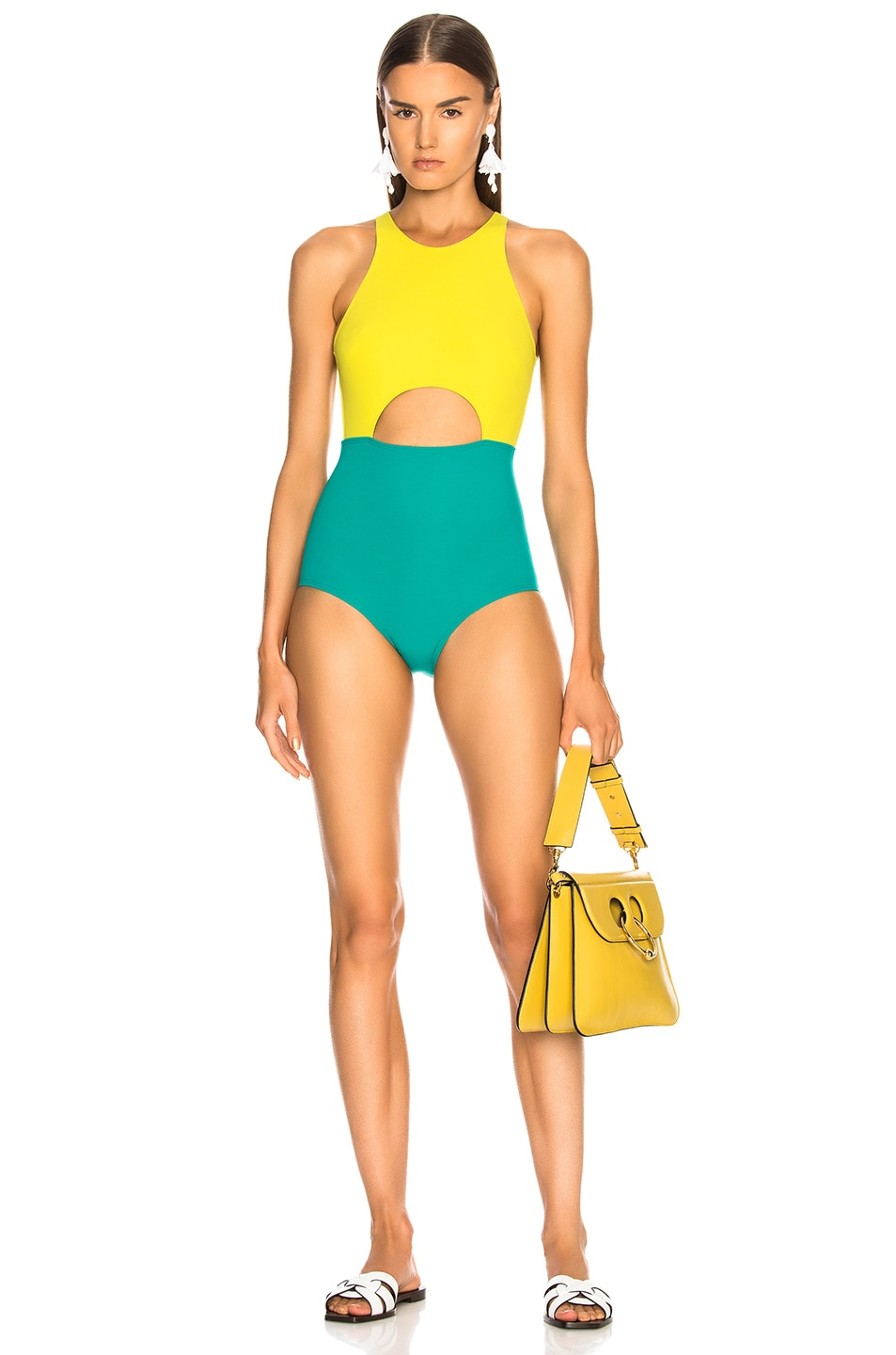 FLAGPOLE Vera Swimsuit in Green,Yellow