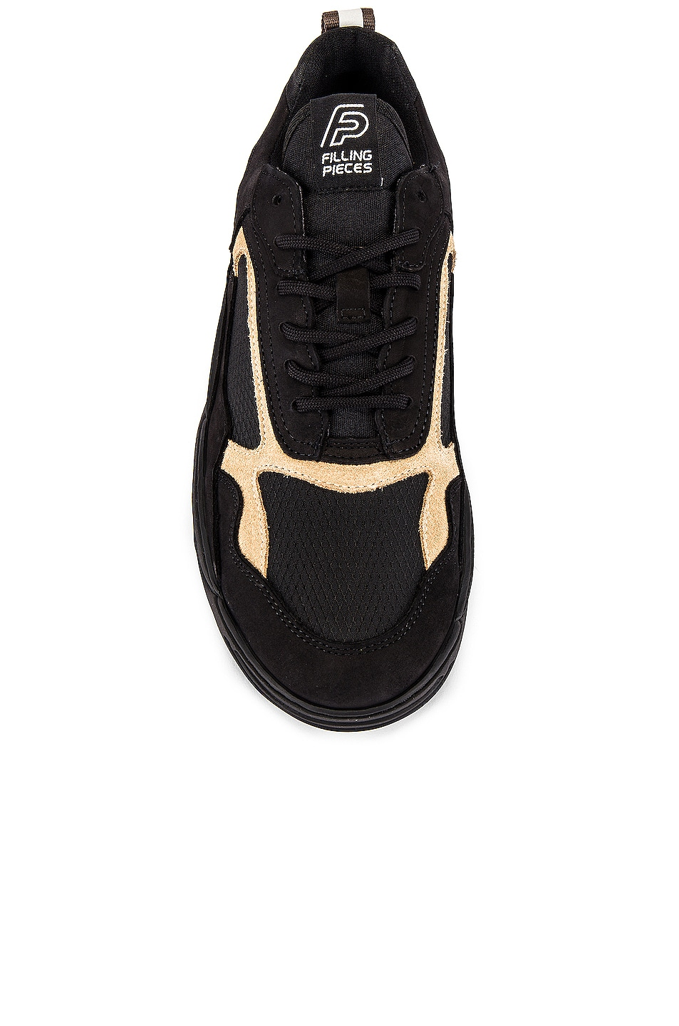 Image 4 of Filling Pieces Trimix Sneaker in All Black