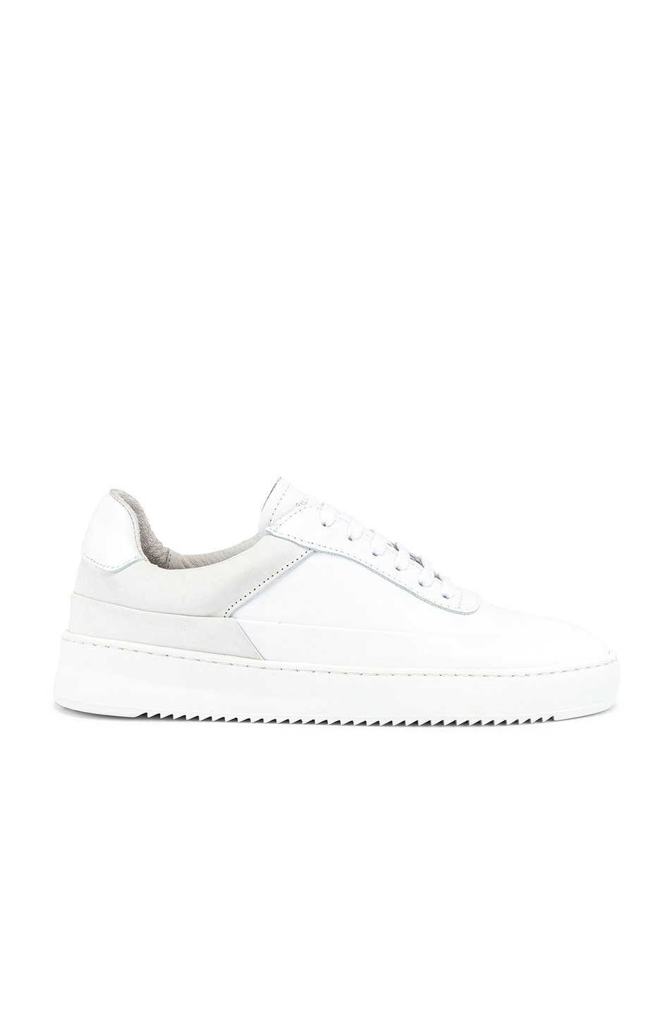 Image 2 of Filling Pieces Shift Sneaker in All White