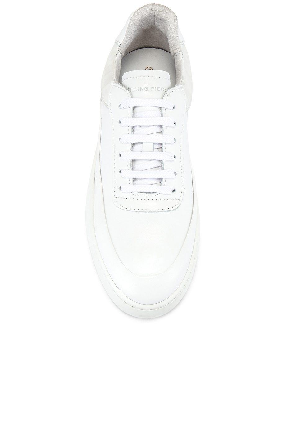 Image 4 of Filling Pieces Shift Sneaker in All White