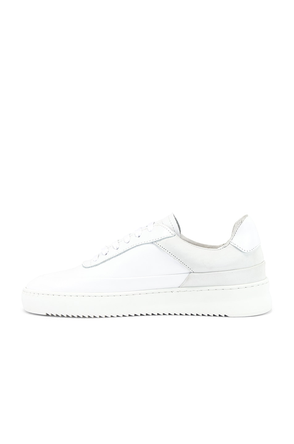 Image 5 of Filling Pieces Shift Sneaker in All White