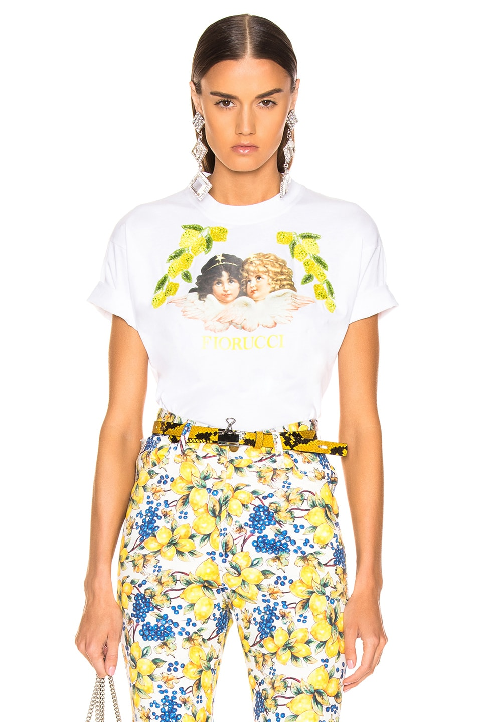 c8a37a8ff0f Image 1 of FIORUCCI Tavi Angel & Lemons Cropped Tee in White