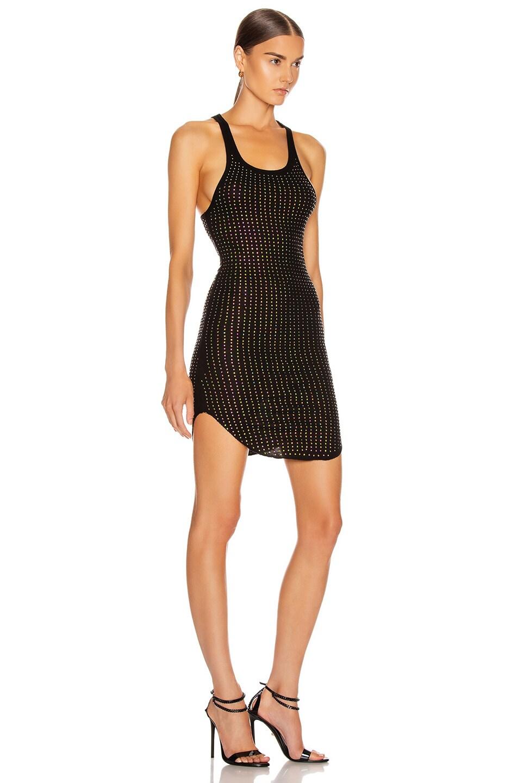 Image 2 of Frankie B Shea Crystals Tank Mini Dress in Black