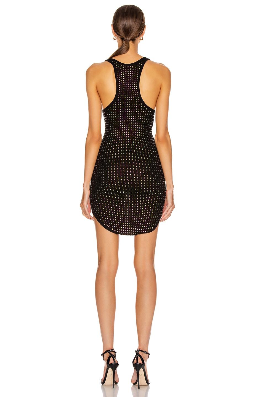 Image 3 of Frankie B Shea Crystals Tank Mini Dress in Black