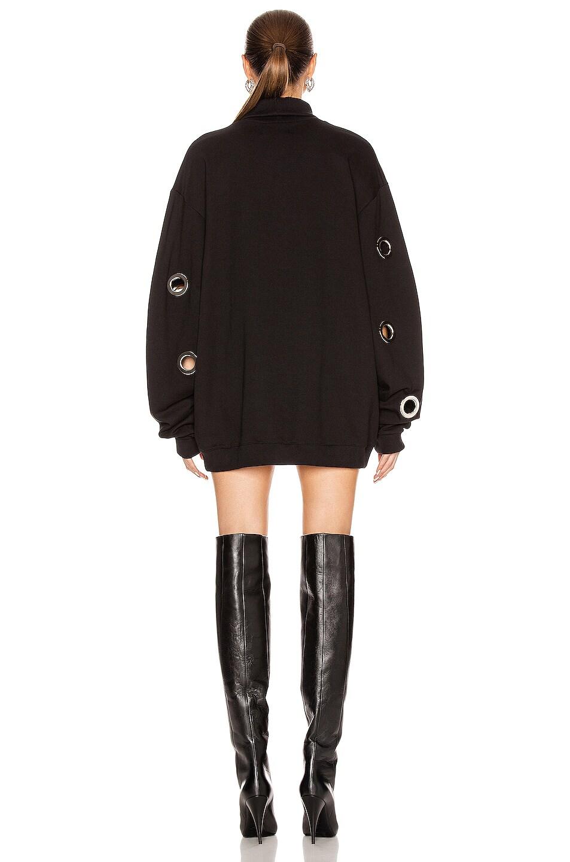 Image 3 of Frankie B Jordy Eyelet Mock Neck Sweatshirt Dress in Black