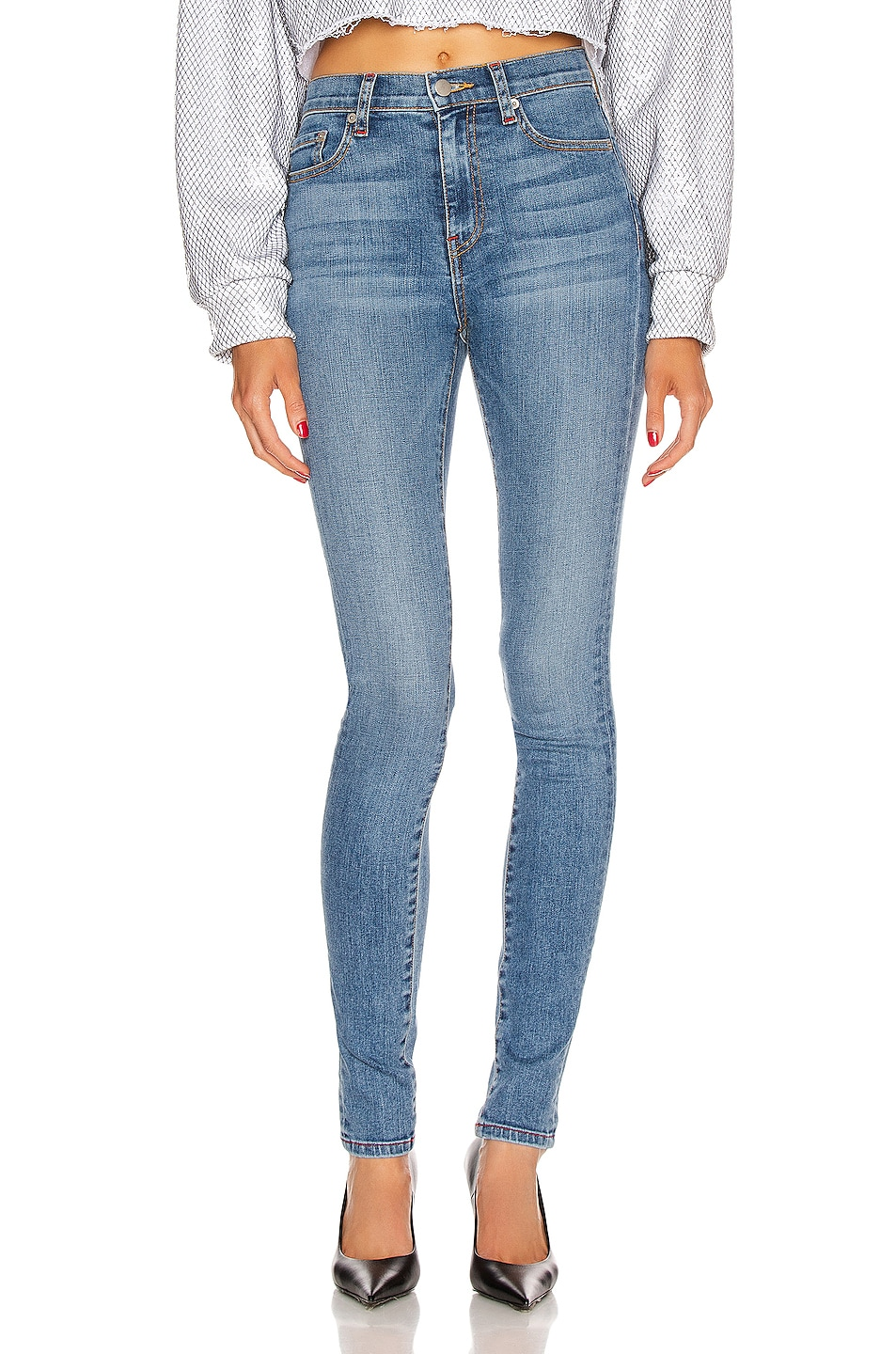 Image 1 of Frankie B Mariah High Rise Skinny in Indigo Medium Blue