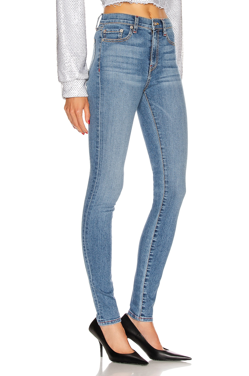 Image 2 of Frankie B Mariah High Rise Skinny in Indigo Medium Blue