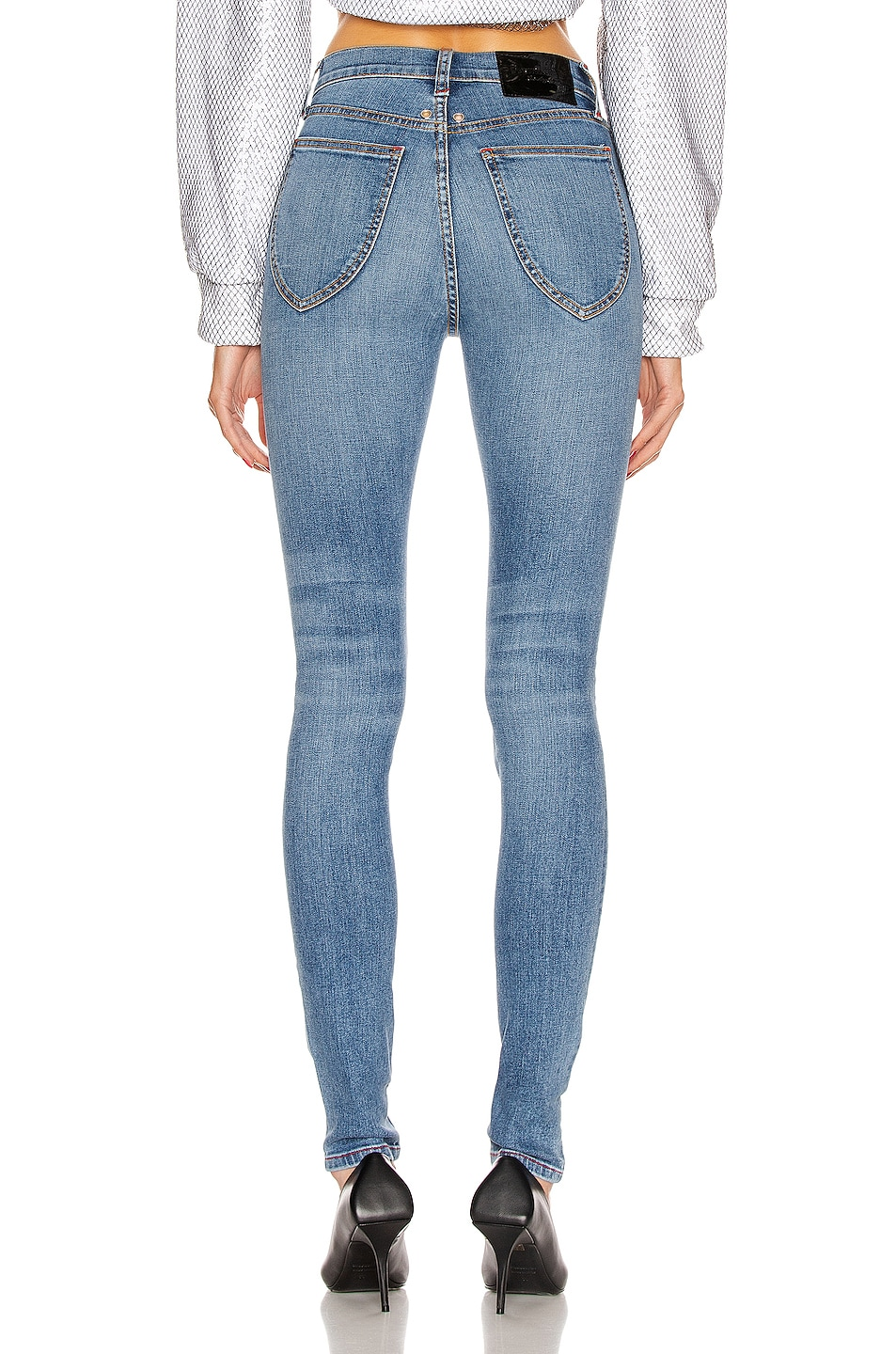Image 3 of Frankie B Mariah High Rise Skinny in Indigo Medium Blue