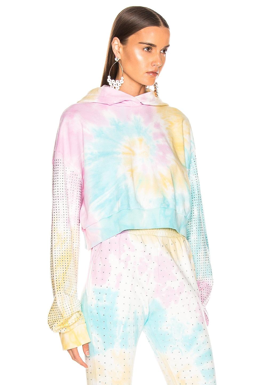 Image 2 of Frankie B Kylie Crystal Crop Hoodie in Tie Dye