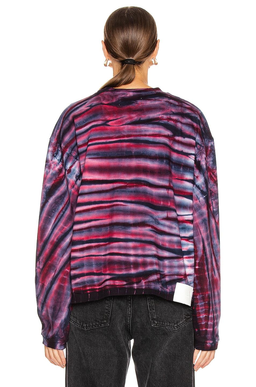 Image 3 of Frankie B Sinead Boyfriend Crew Neck Sweatshirt in Blue Tie Dye
