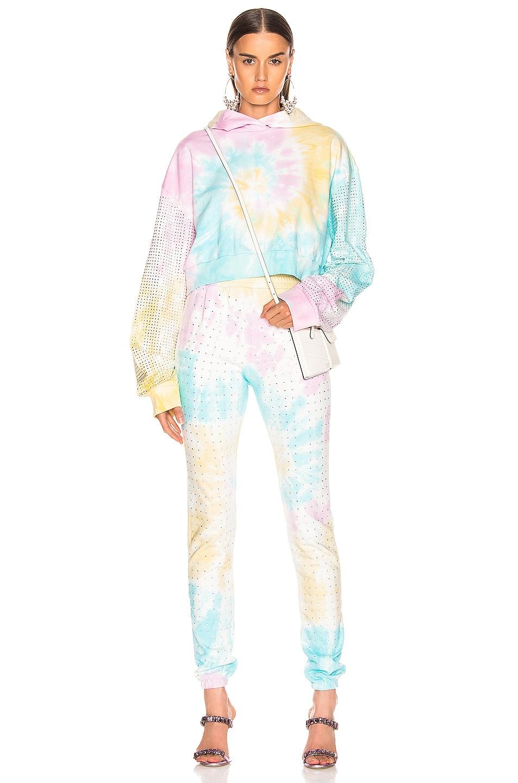 Image 4 of Frankie B Kendall High Rise Crystal Sweatpant in Tie Dye