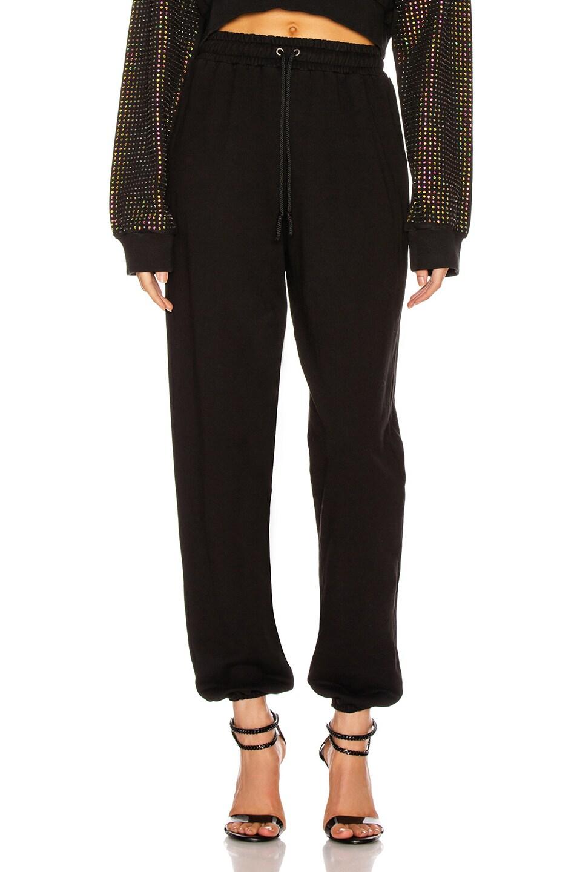 Image 1 of Frankie B Aliyah Baggy Sweatpants in Black