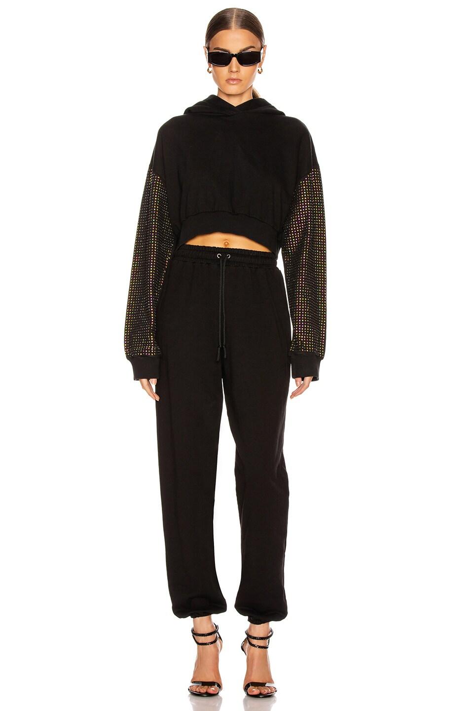 Image 4 of Frankie B Aliyah Baggy Sweatpants in Black