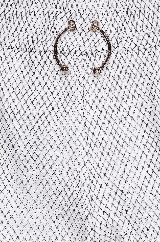 Image 5 of Frankie B Aliyah Bull Ring Baggy Sweatpant in Metallic Mesh