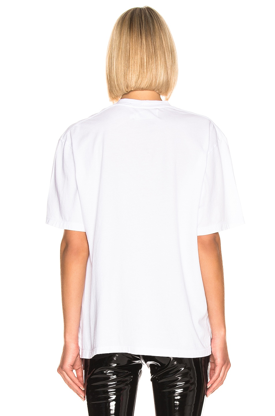 Image 3 of Frankie B Alanis Boyfriend T Shirt in White