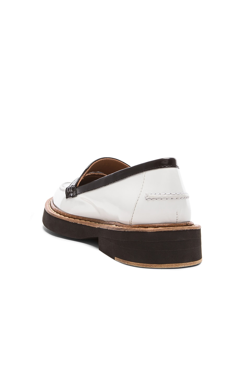 Image 3 of Flamingos Walton Leather Loafers in Black, Silver, & White