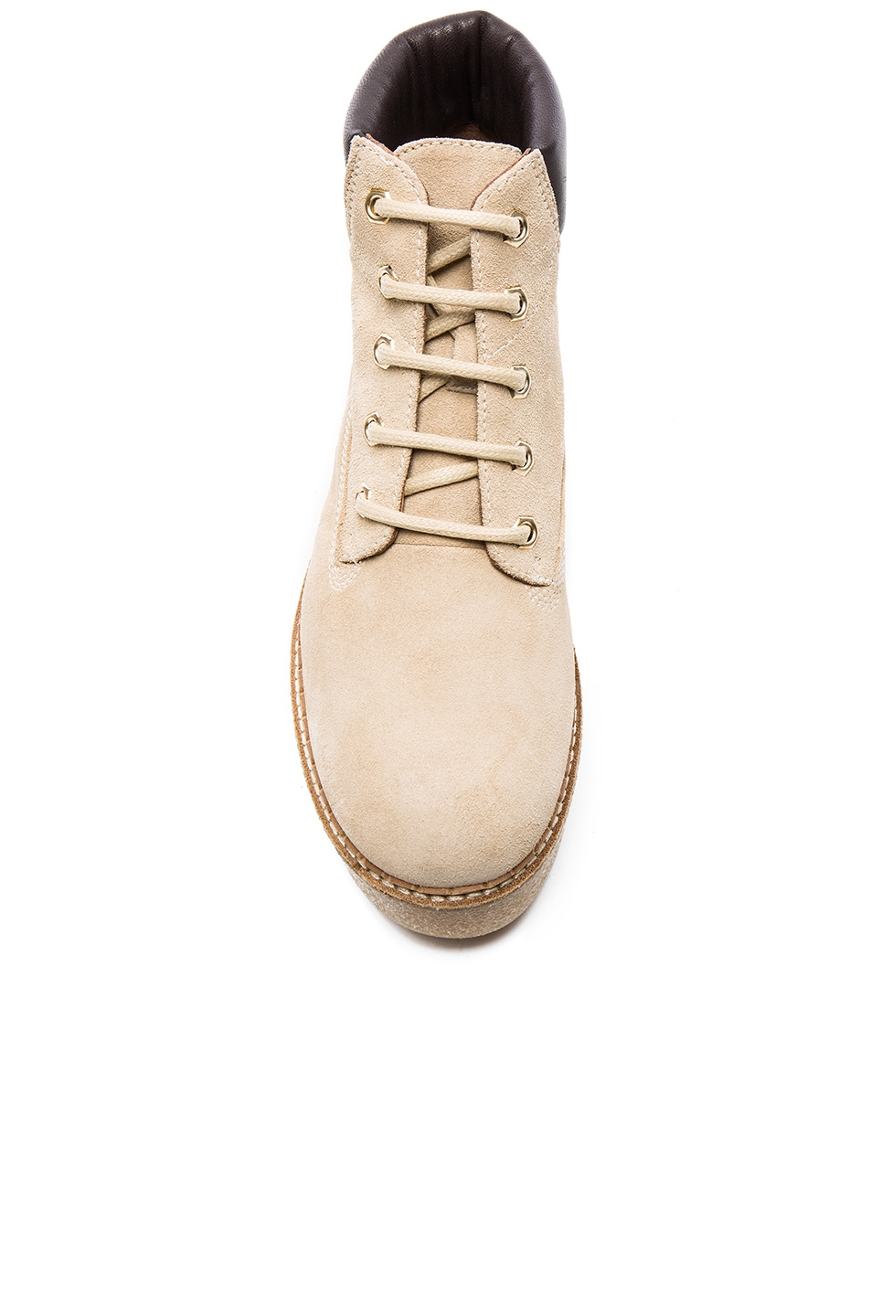 Image 4 of Flamingos Suede Sally Boot in Beige & Natural