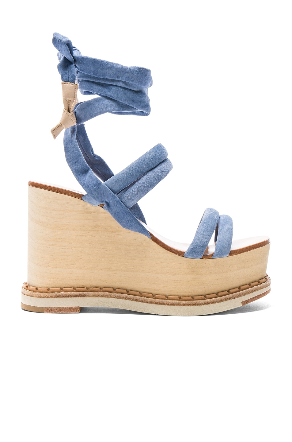 Image 1 of Flamingos Suede Lily Wedges in Blue, Samba & White