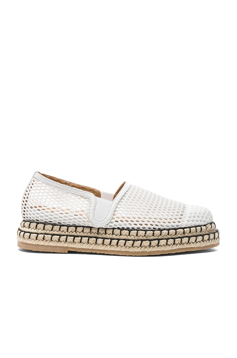 Image 1 of Flamingos Mesh Limbo Espadrilles in White Mesh