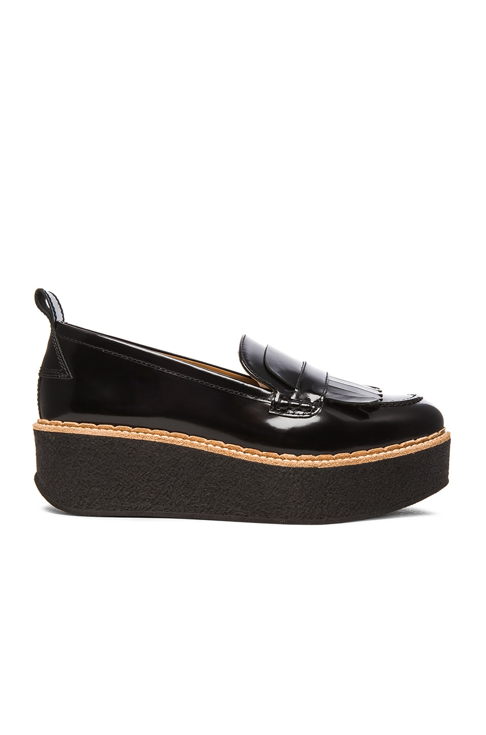 Image 1 of Flamingos Wellington Leather Loafers in Black