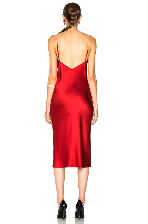 Fleur Du Mal Draped Silk Satin Midi Dress Red Modesens