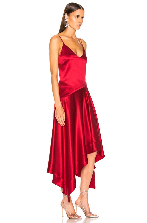 Image 2 of fleur du mal Handkerchief Dress in Red Poppy