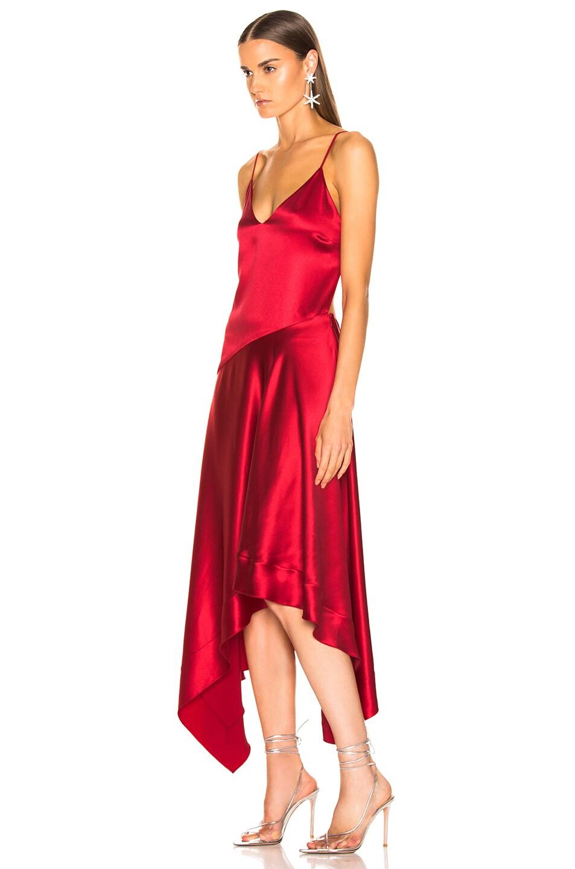 Image 3 of fleur du mal Handkerchief Dress in Red Poppy