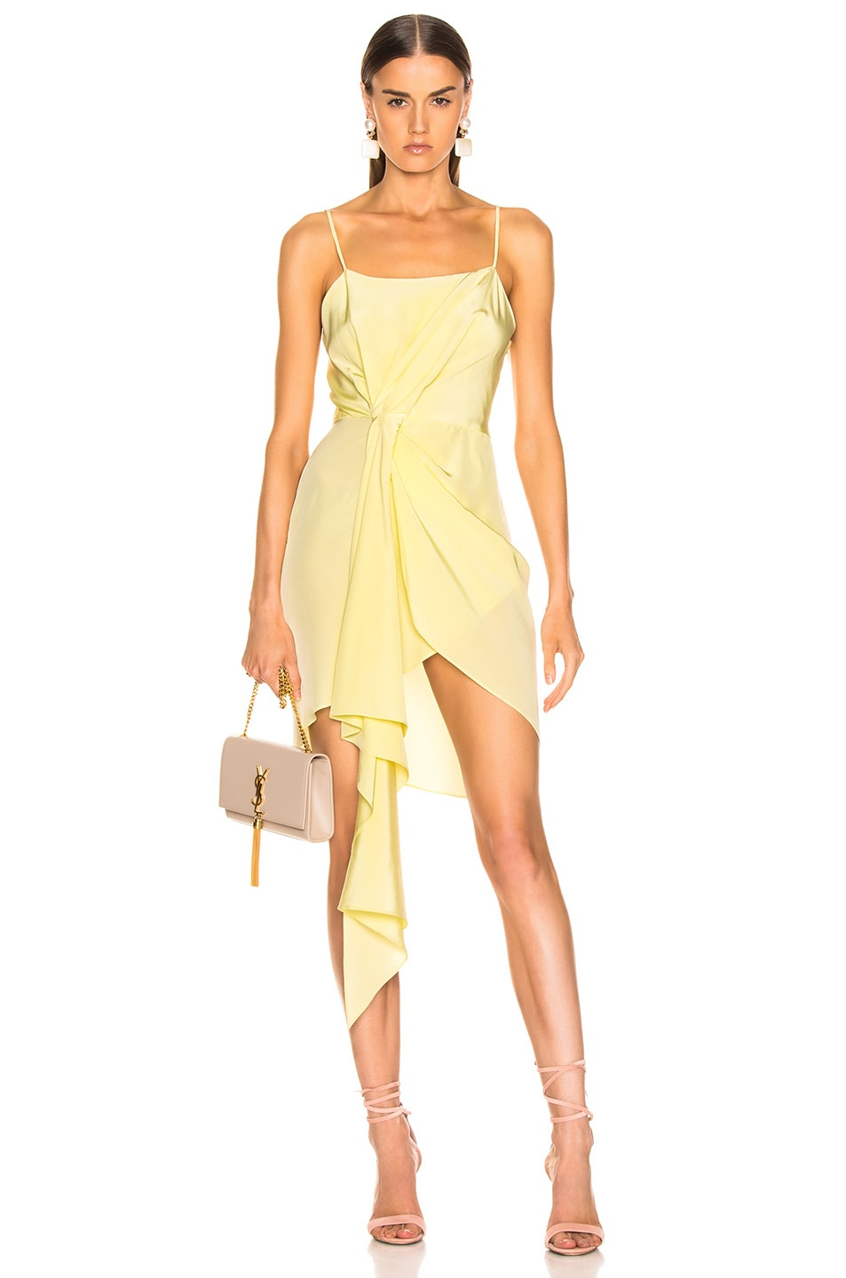 Image 1 of fleur du mal Cascade Slip Dress in Sorbetto