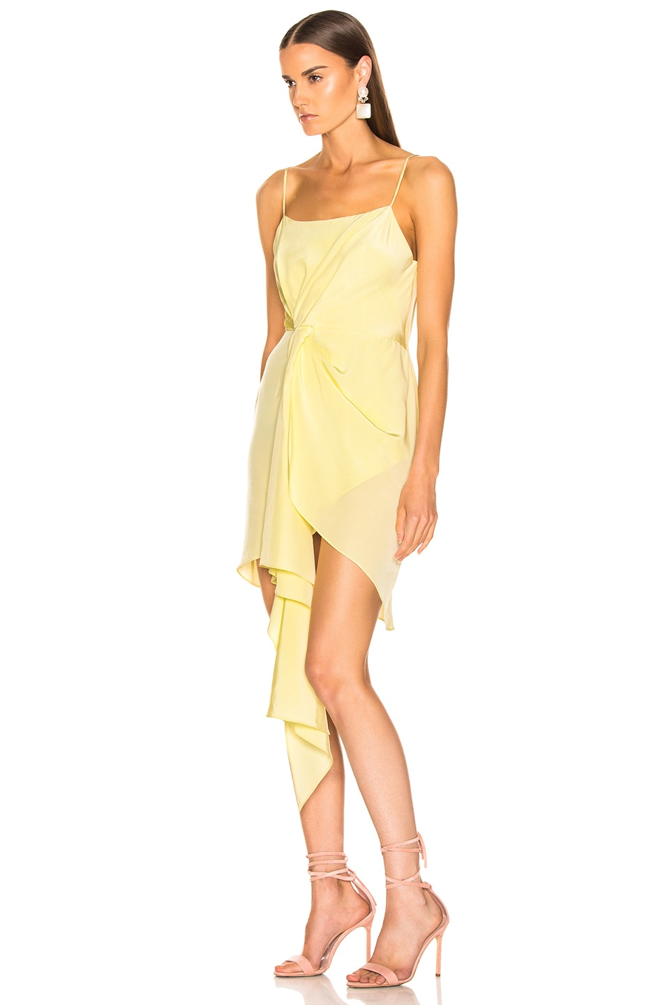 Image 3 of fleur du mal Cascade Slip Dress in Sorbetto