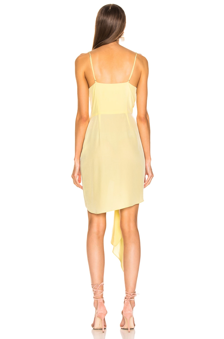 Image 4 of fleur du mal Cascade Slip Dress in Sorbetto