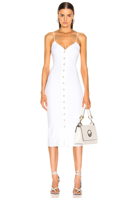 Image 1 of fleur du mal Front Snap Dress in Ivory