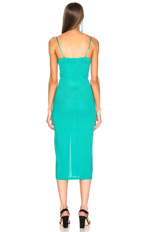 Image 3 of fleur du mal Center Front Snap Jersey Dress in Monaco Green