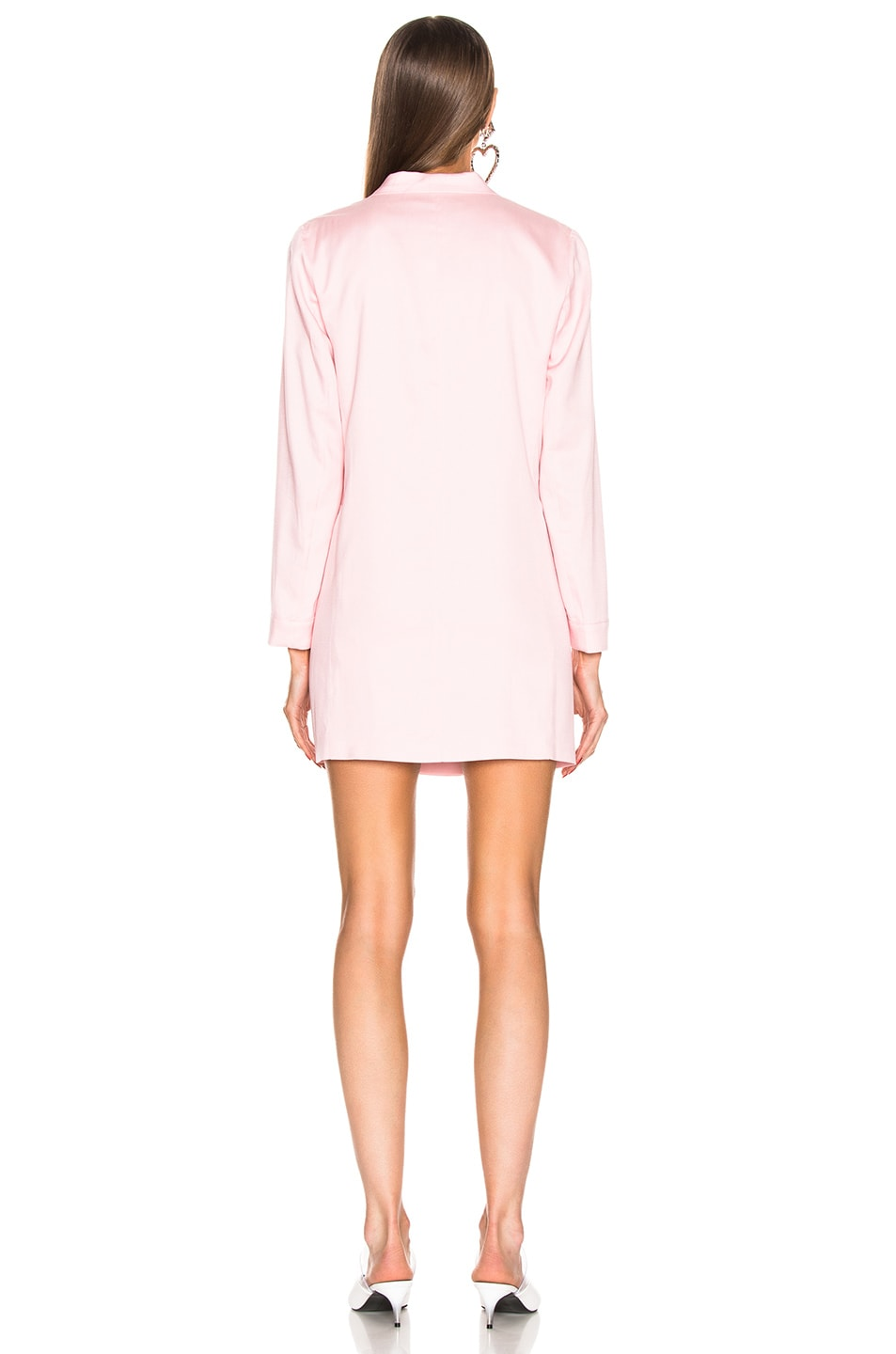 Image 3 of fleur du mal Double Breasted Blazer Dress in Coral Blush