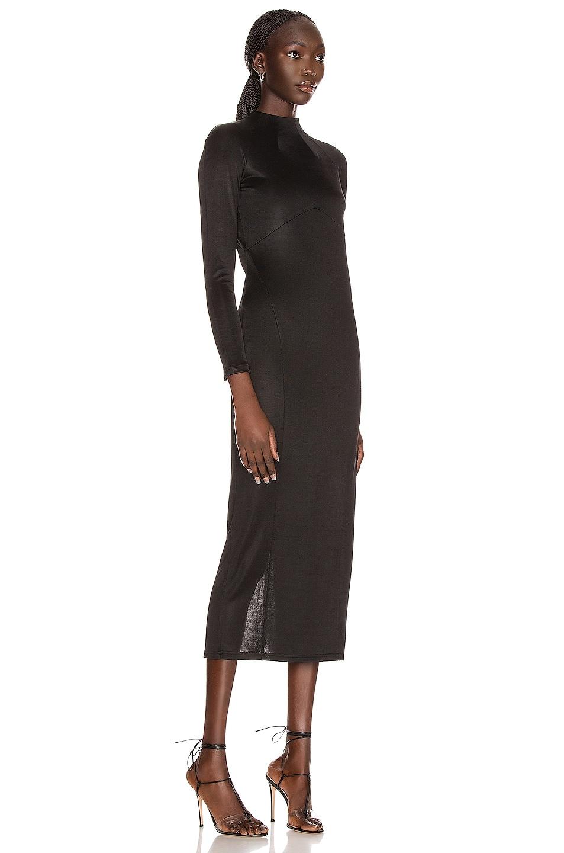 Image 2 of fleur du mal Slinky Long Dress in Black