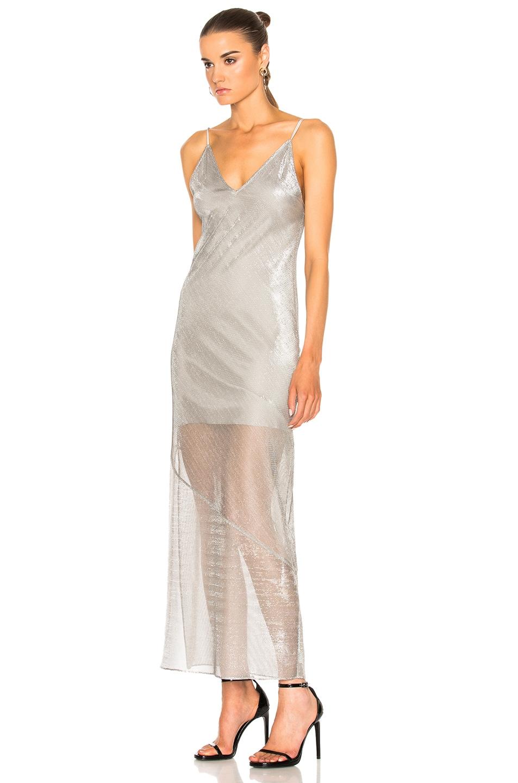 Image 2 of fleur du mal Long Slip Dress in Platinum