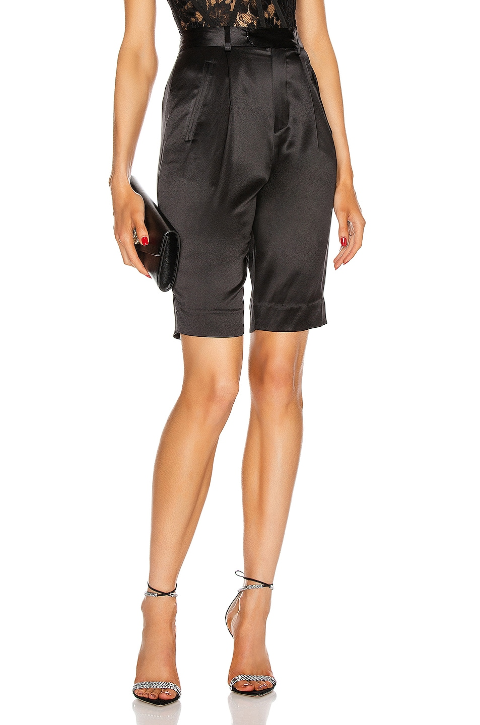 Image 1 of fleur du mal Bermuda Short in Black