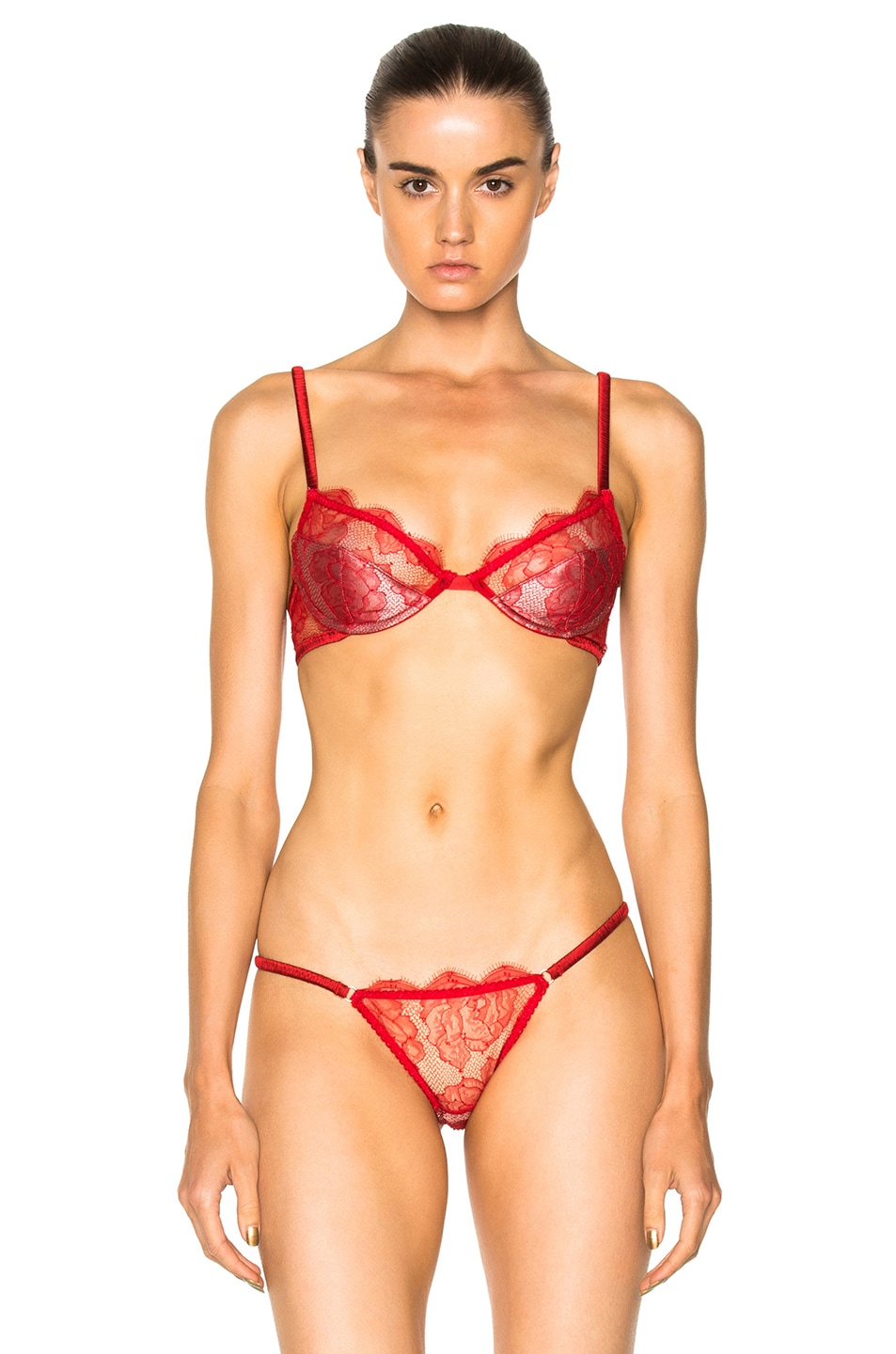 Womens Rose Lace Padded Demi Bra Fleur du Mal Online Cheapest ZFPYzjr