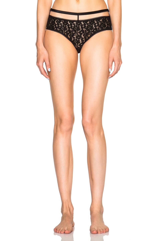 3331e3123a249 Image 1 of fleur du mal x PLAYBOY Silk Bow High Waisted Panty in Black