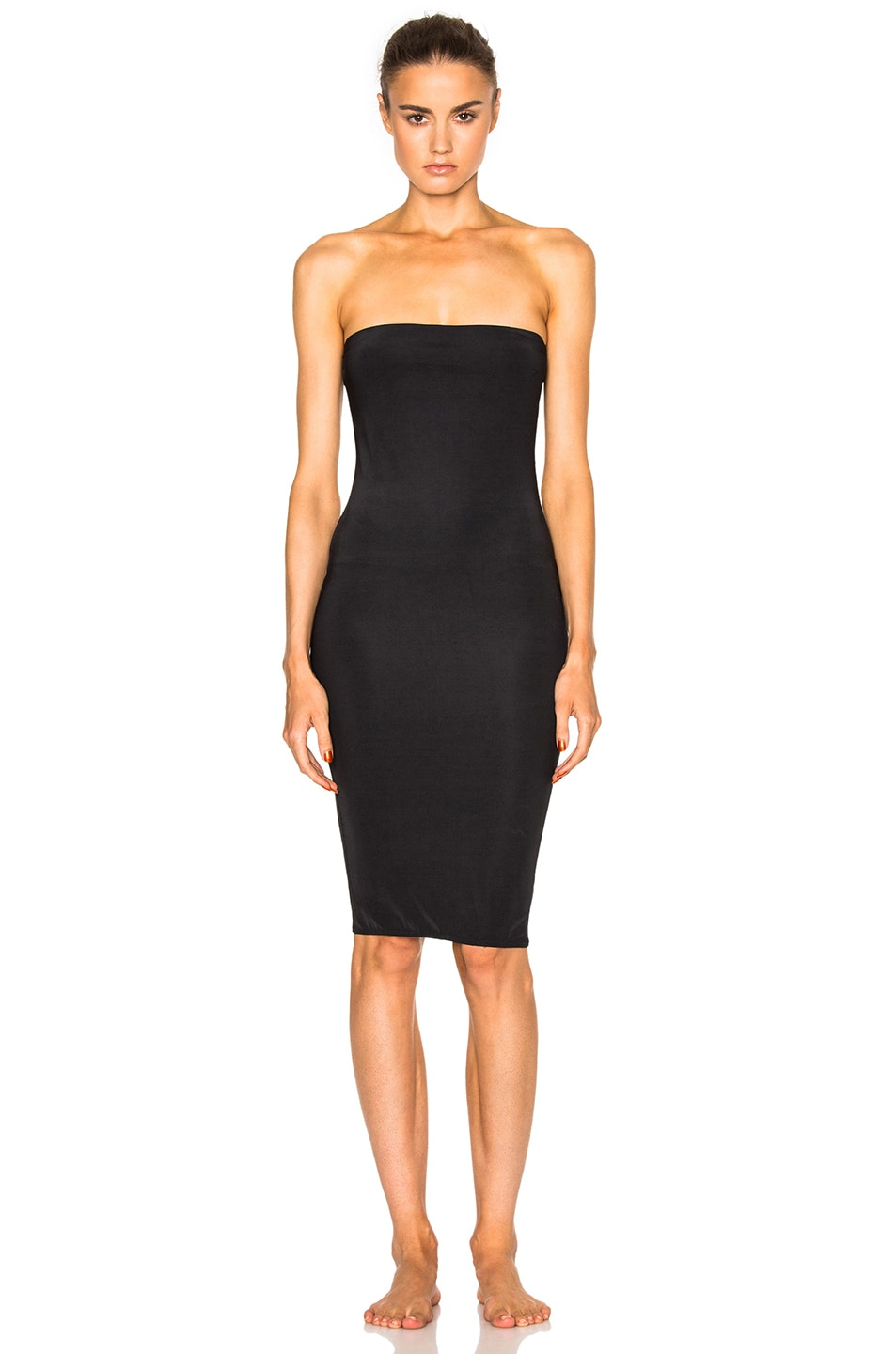 Image 1 of fleur du mal for FWRD Strapless Bodycon Slip in Black