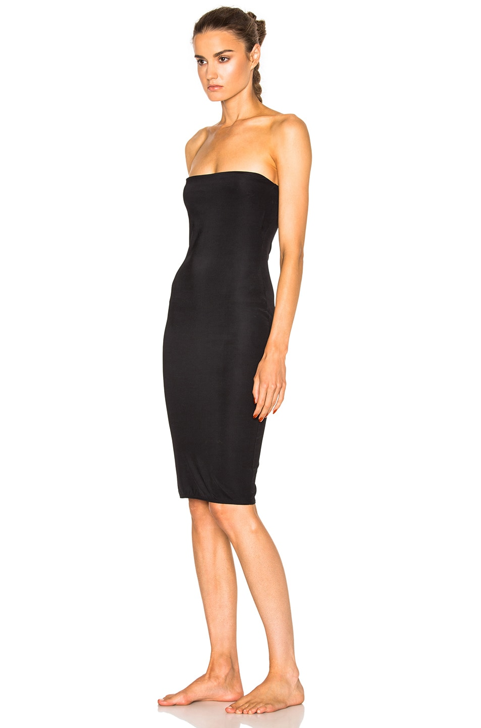Image 2 of fleur du mal for FWRD Strapless Bodycon Slip in Black