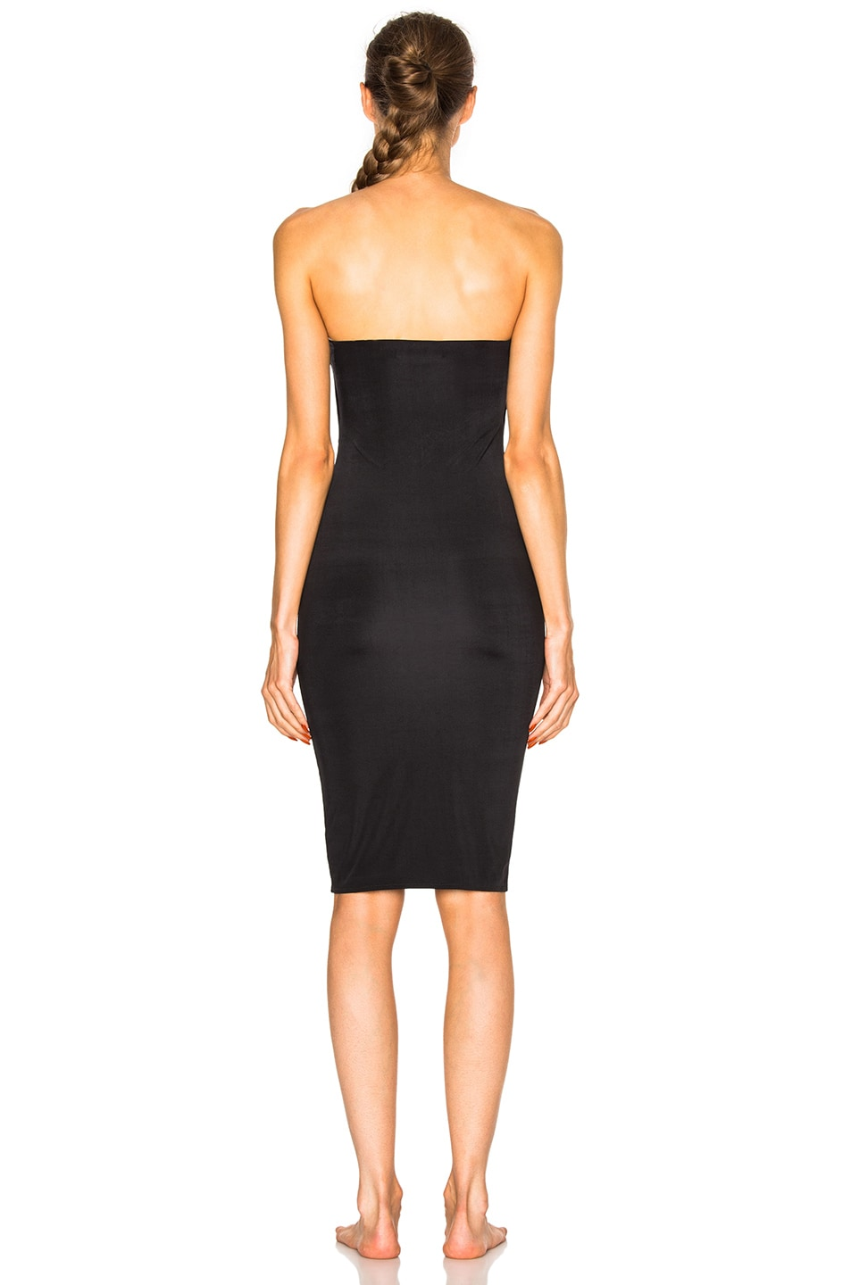 Image 4 of fleur du mal for FWRD Strapless Bodycon Slip in Black