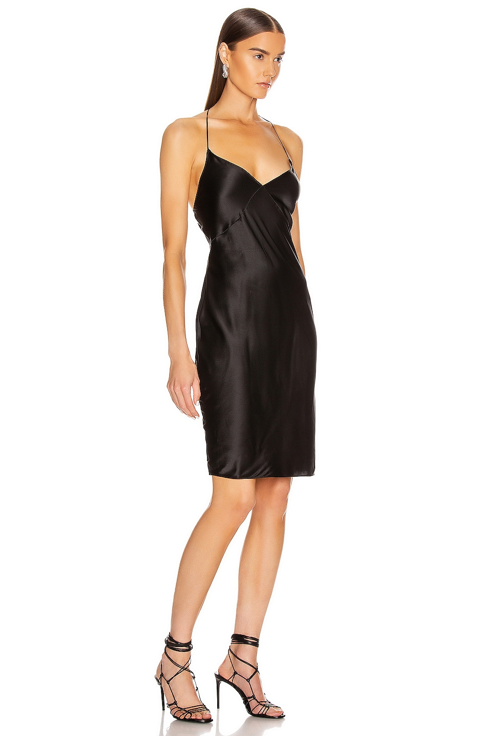 Image 2 of fleur du mal for FWRD Midi Slip with Low Back in Black