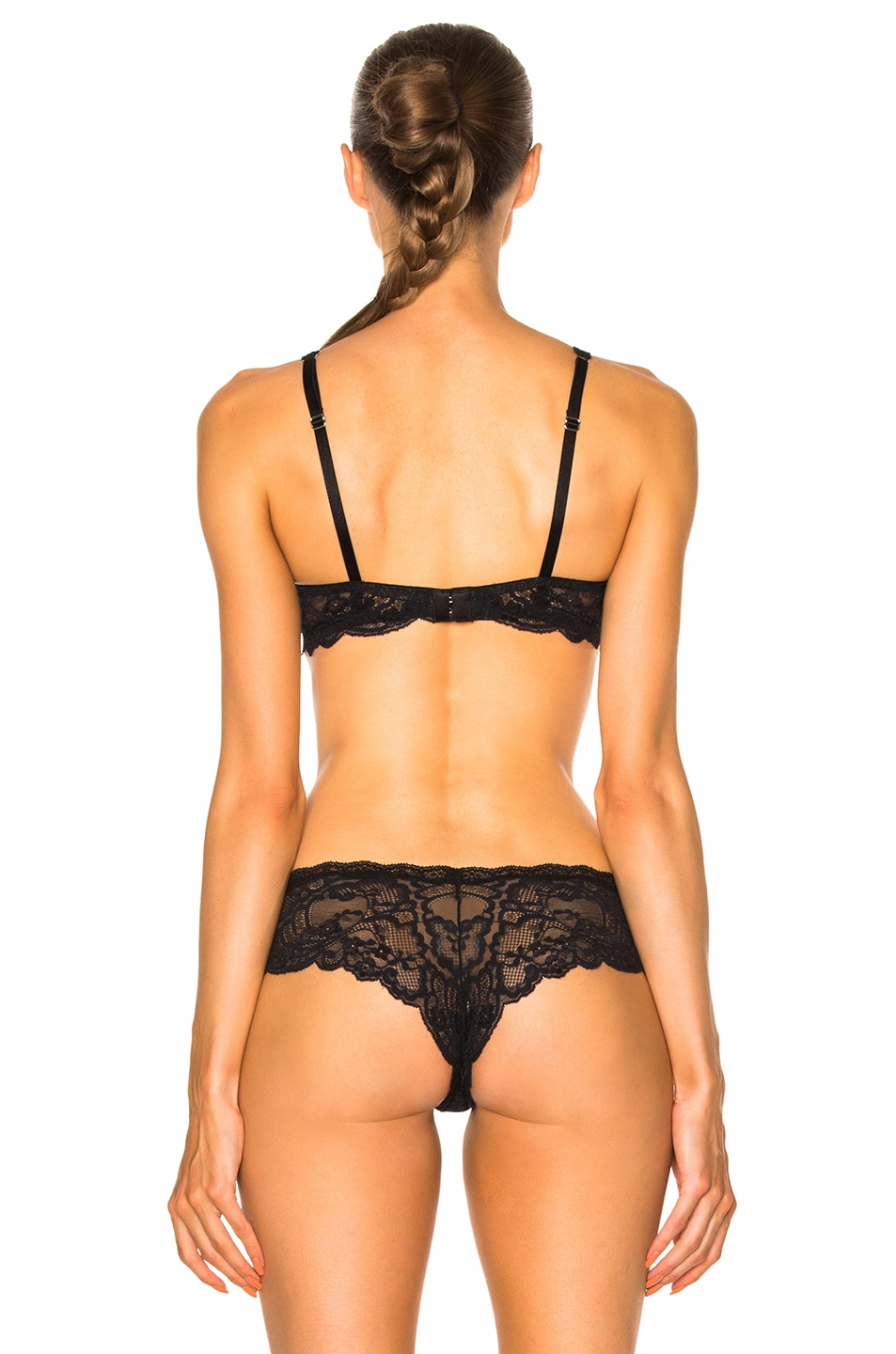 Image 4 of fleur du mal Sheer Overlay Demi Bra in Black
